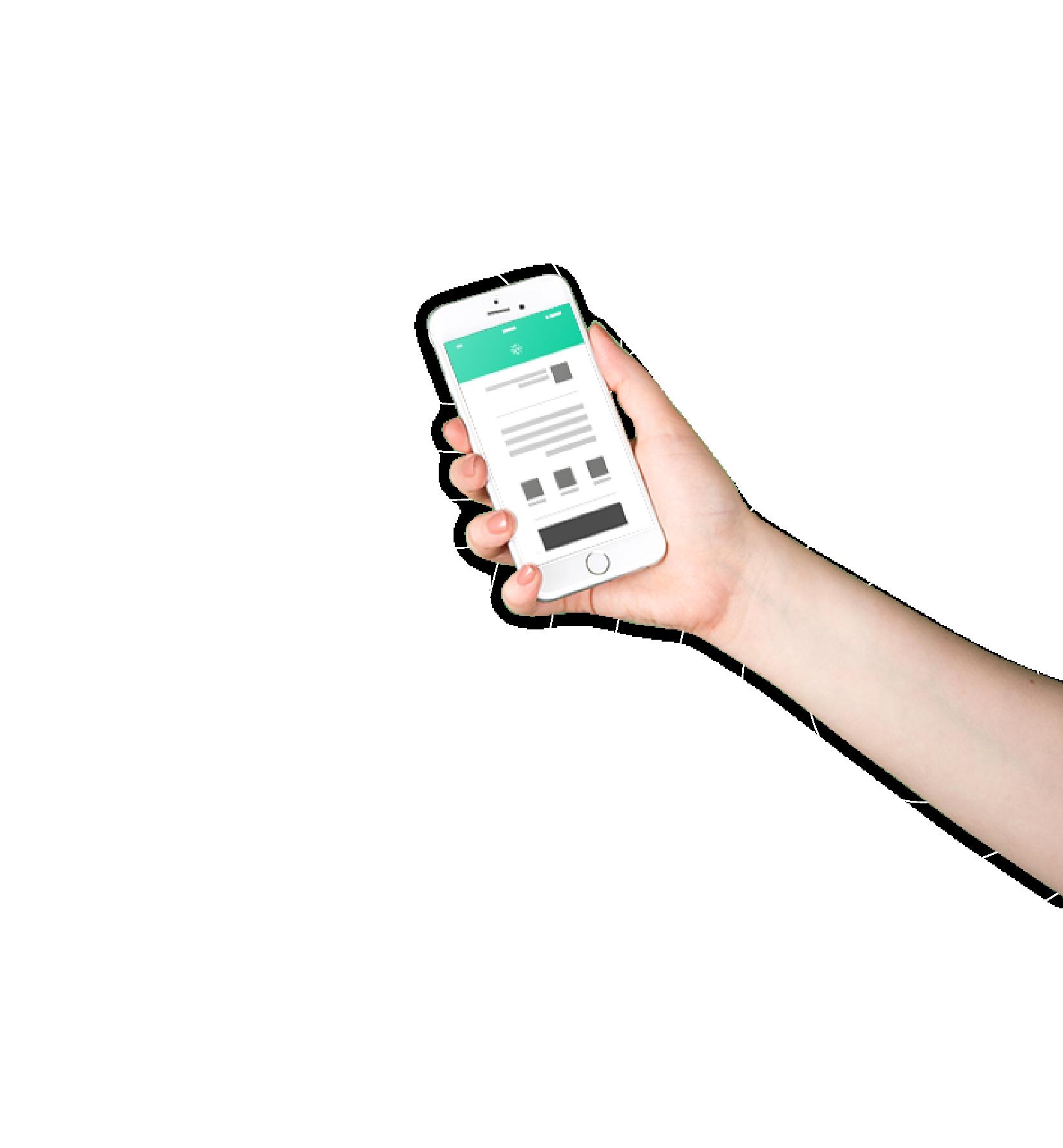 Brazo sosteniendo un celular con la app de Cirrus
