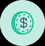 green dolar sign icon