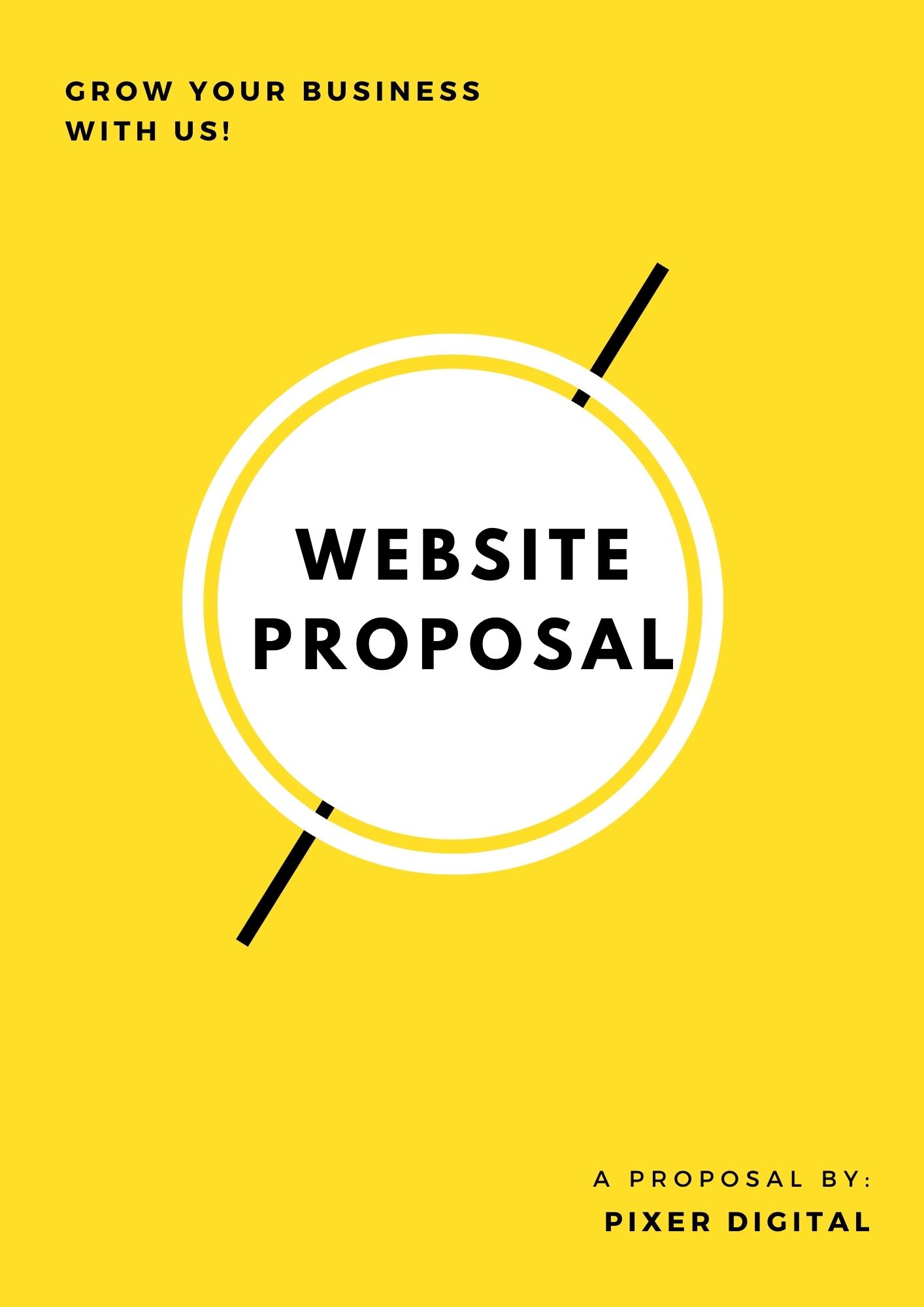 Website Development Proposal Template