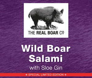 Wild Boar Salami with Sloe Gin
