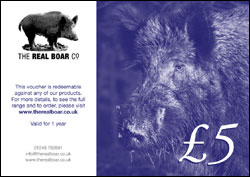 The Real Boar Co £5 Gift Voucher