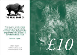The Real Boar Co £10 Gift Voucher