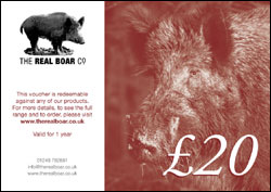The Real Boar Co £20 Gift Voucher