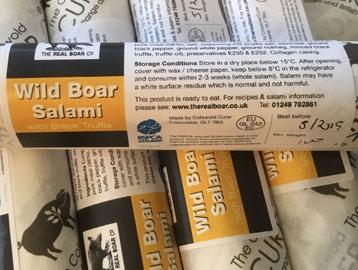 100g Wild Boar Salami with Black Truffle