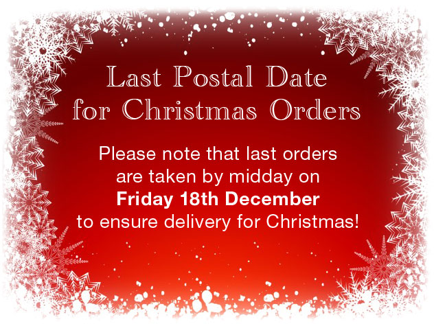 Last postal date for Christmas orders