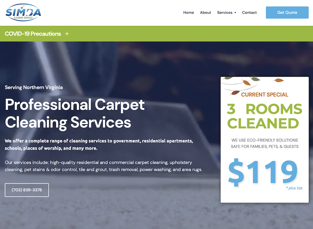 A link to our client: Simba Carpet Cleaning