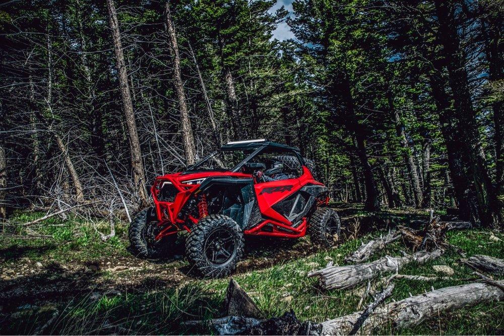 Polaris XP Pro in the woods.