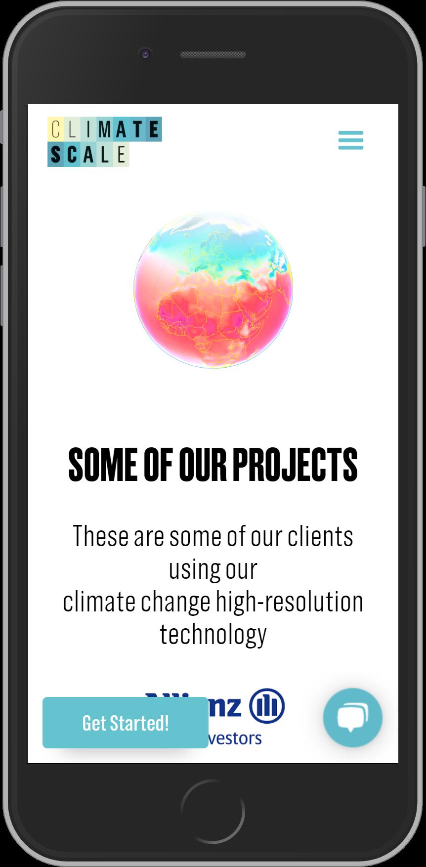 Mobile responsive landing page website built on Webflow