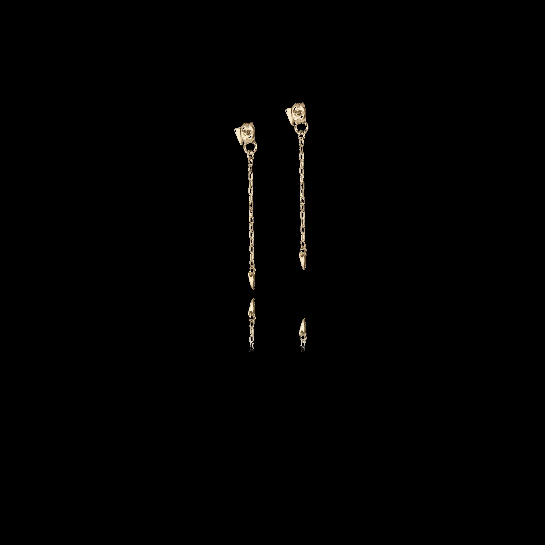 Micro Tri Droplet Earrings