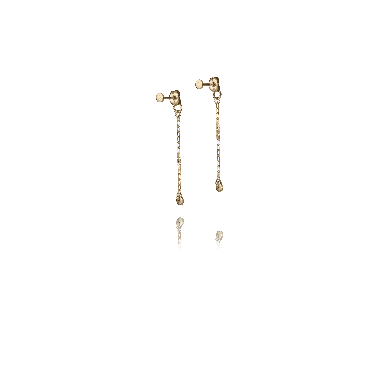 Micro Pi Droplet Earrings