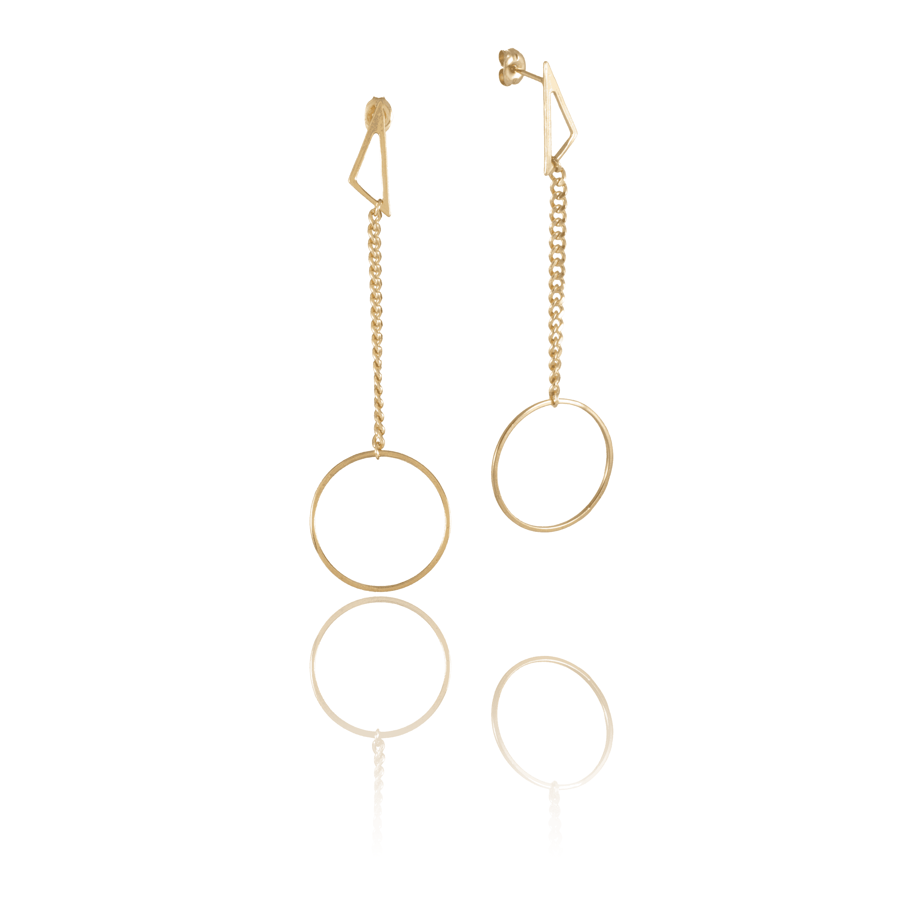 Mini Scalene Pi Drop Earrings