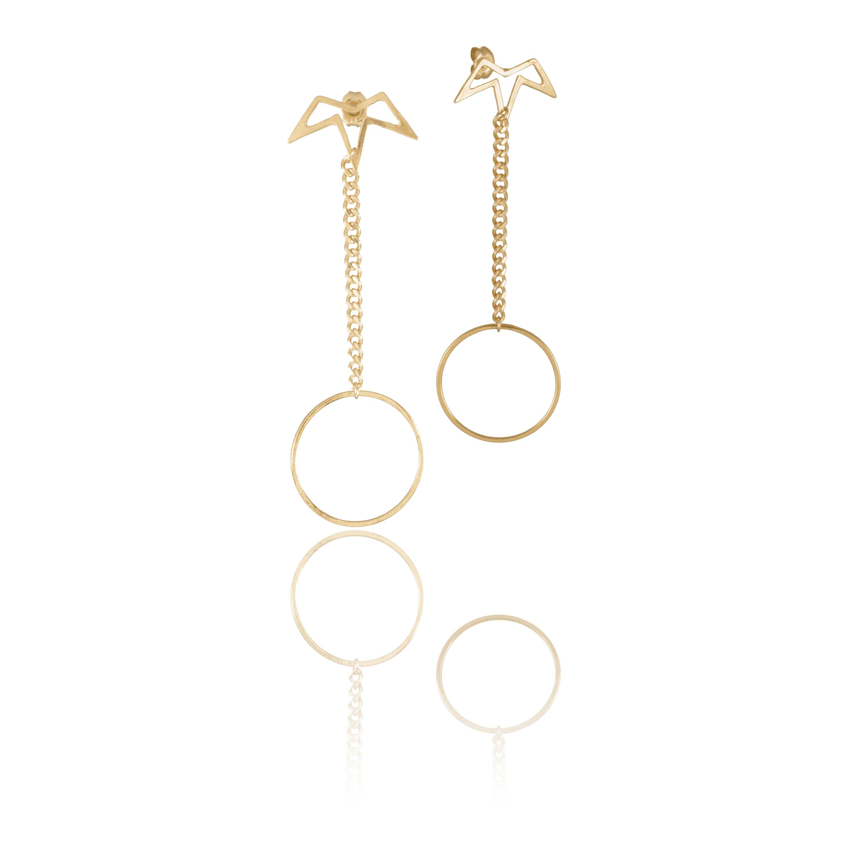 Spur Pi Drop Earrings
