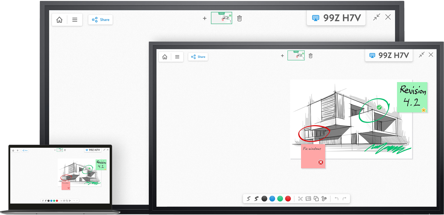 Join Free Whiteboard Remotely With Room Display