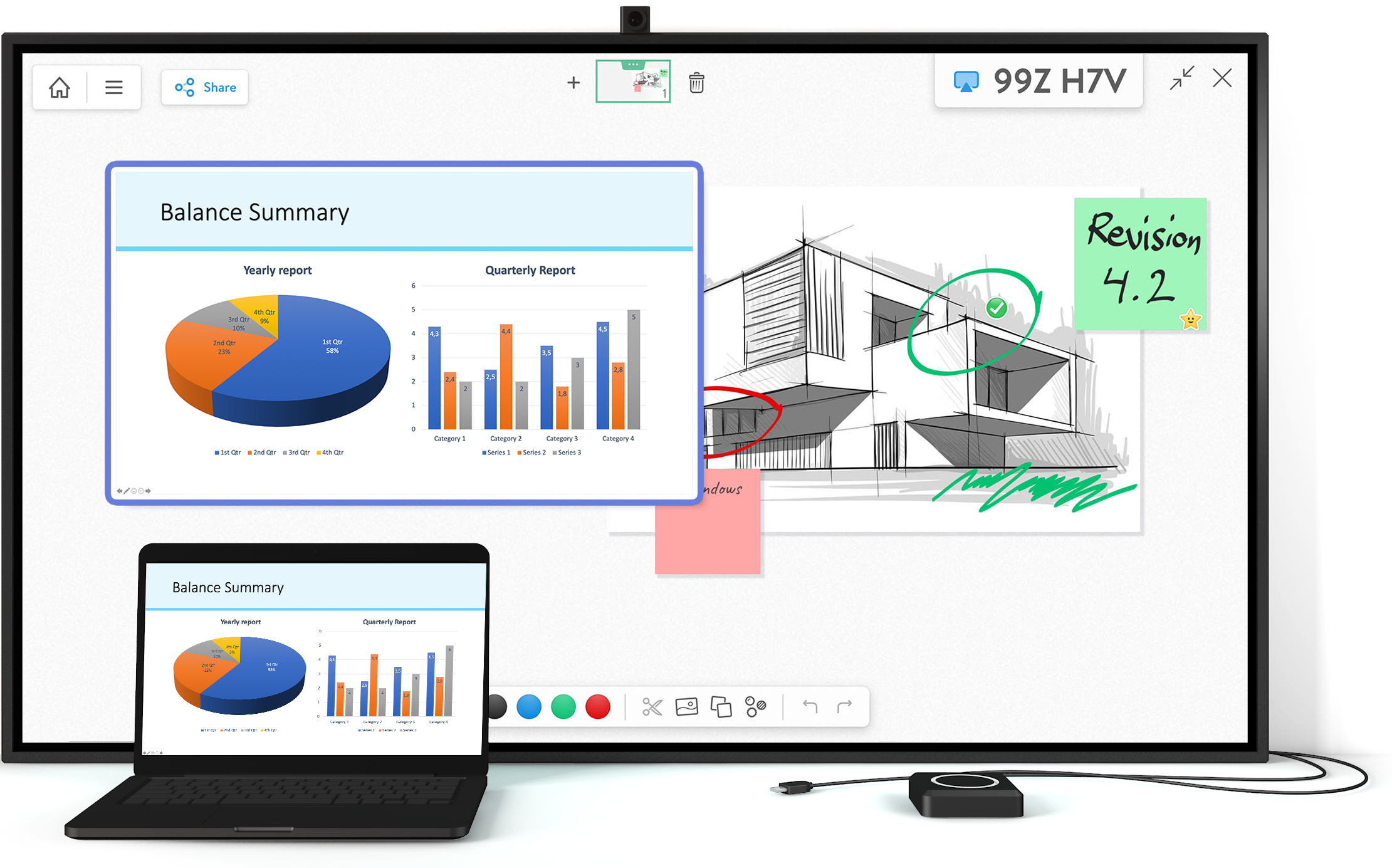 Screen Share Your Presentation To The Whiteboard