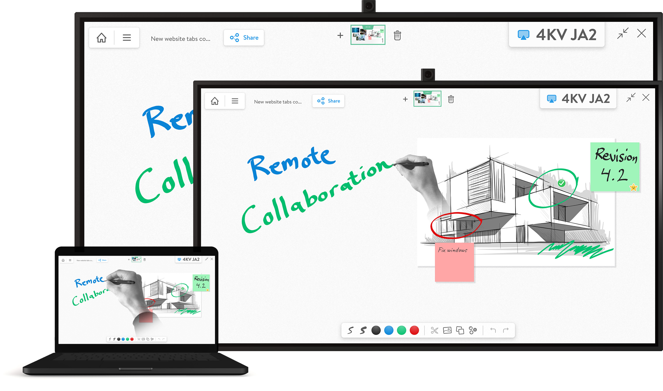 Remotely Collaborate with your team using whiteboard