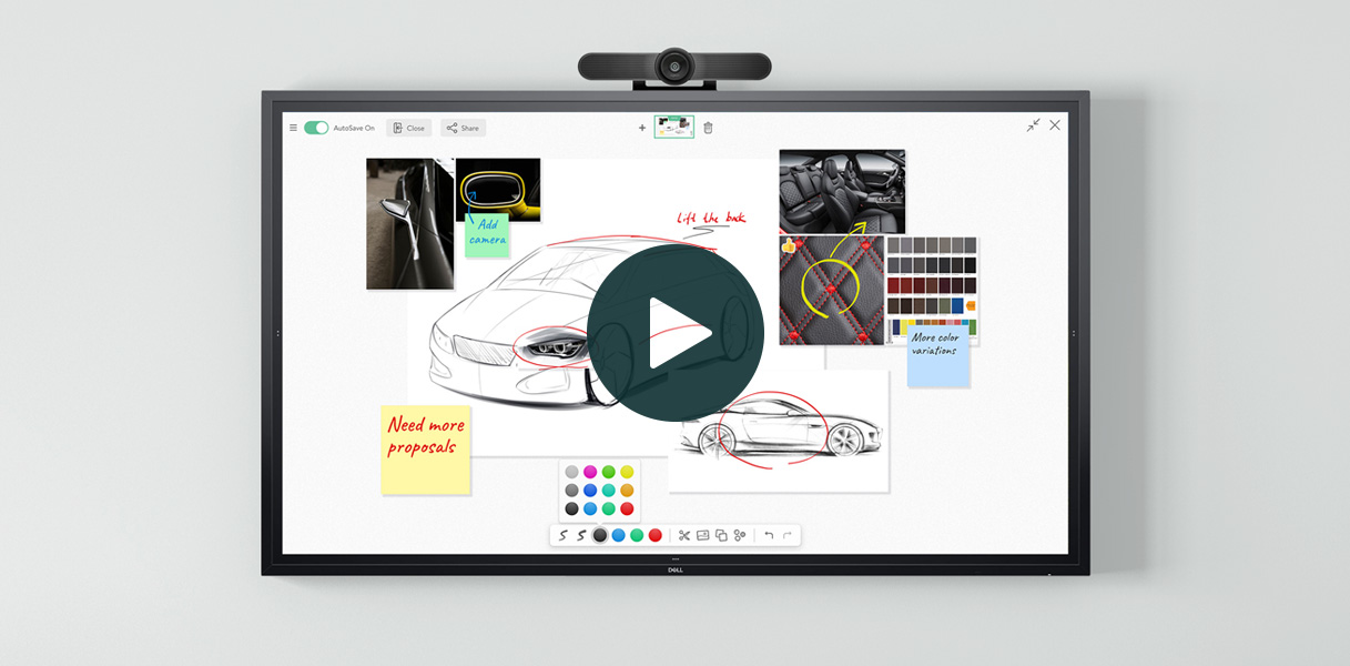 Dell Display Whiteboard powered by FlatFrog InGlass
