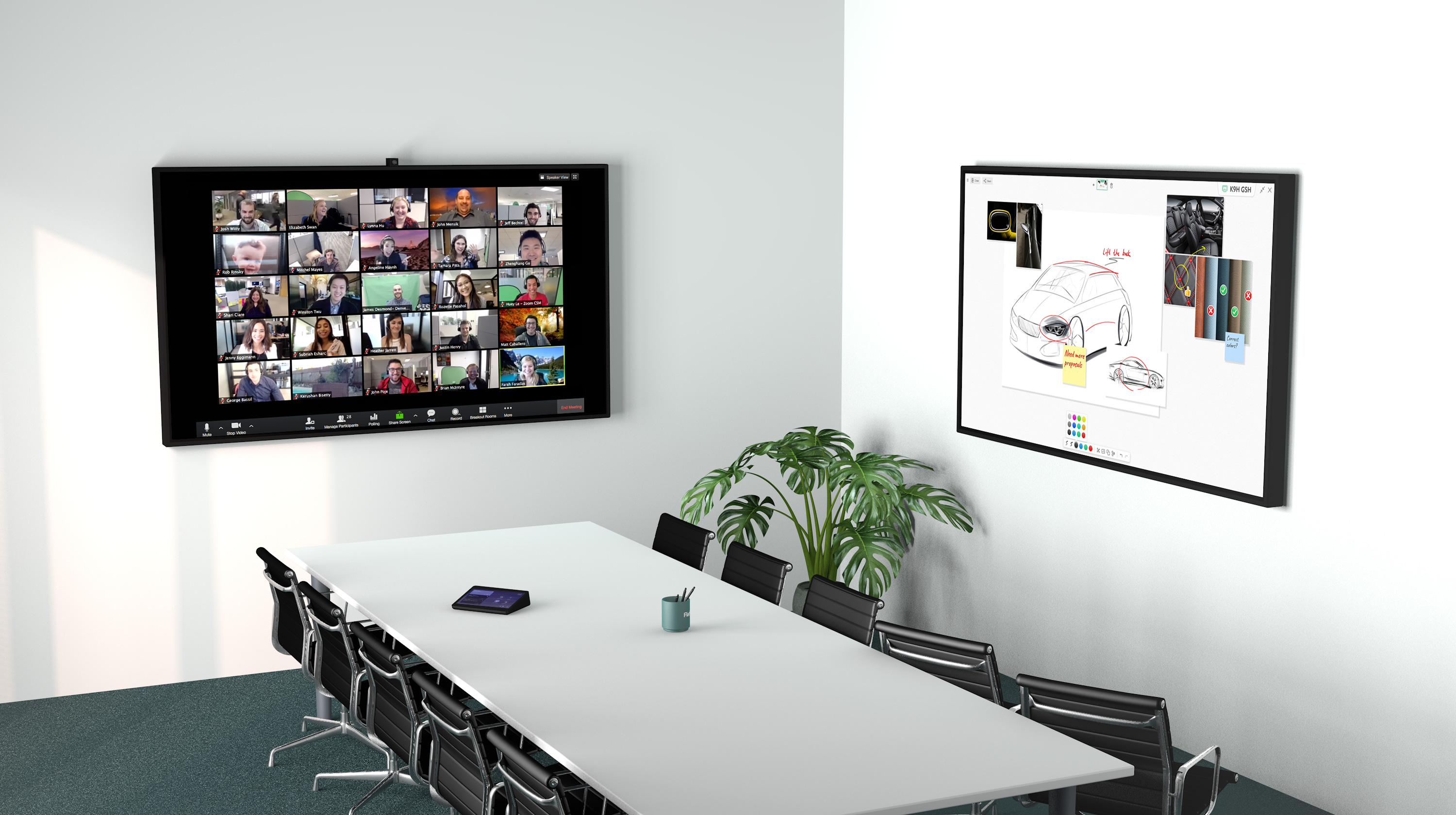 Dual Display Whiteboard Solution