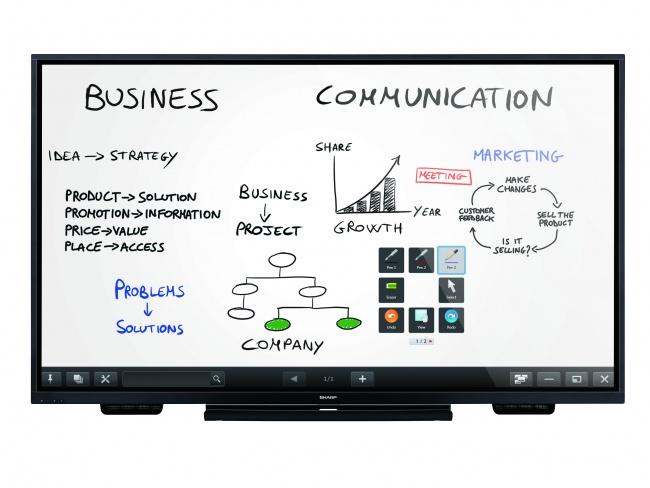 Sharp Bringing InGlass Interactive Corporate Boardroom