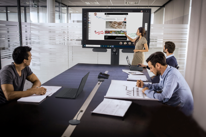 InGlass Based Microsoft Teams Rooms Powered by Logitech and Dell