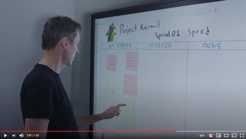 Video: FlatFrog Board Scrum Storyboard on an InGlass Display