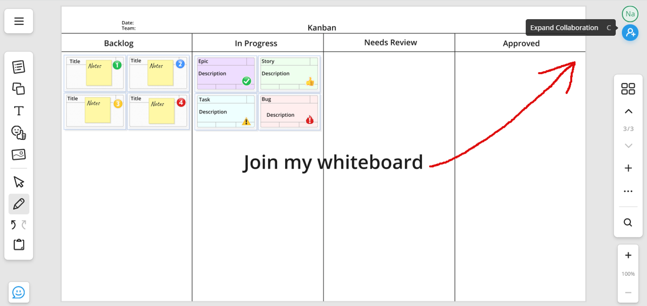 How to Join the Online Whiteboard
