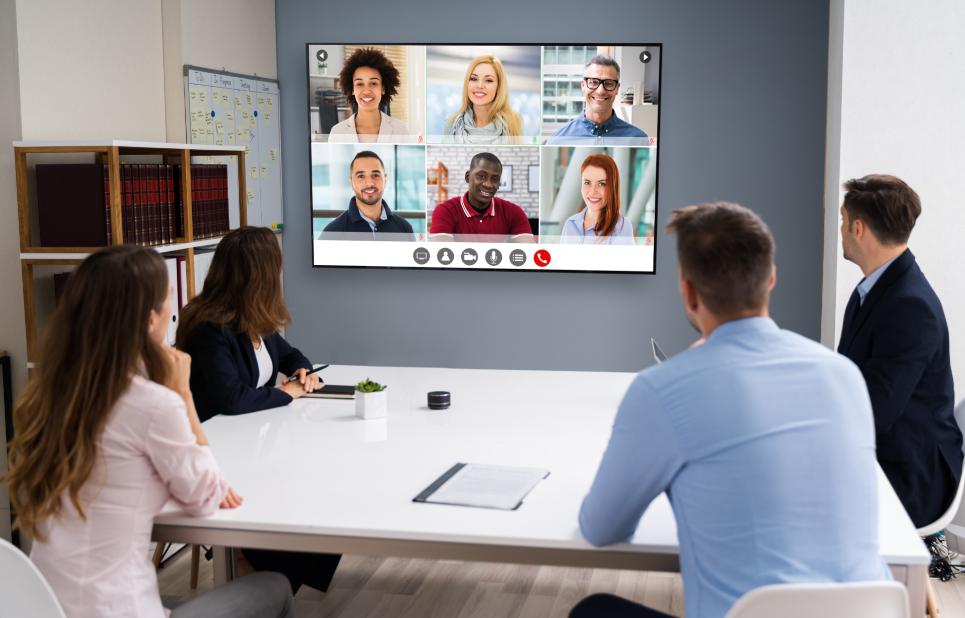 TV Display In The Meeting Room