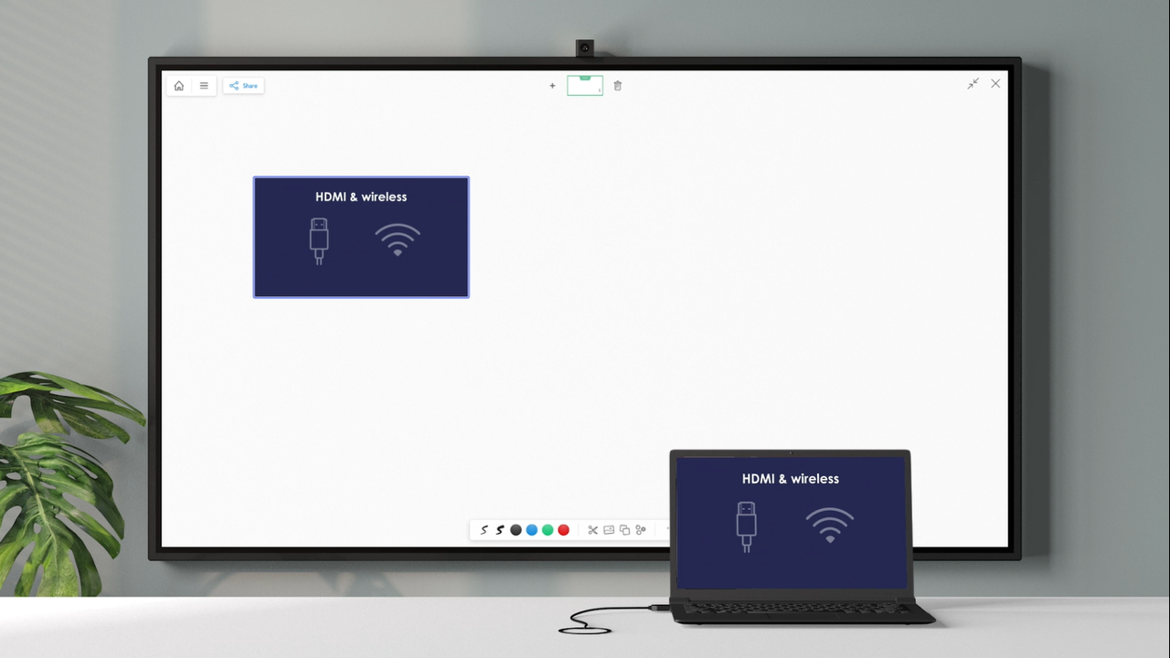 How to Screen Share Laptop Presentations to the Room Whiteboard?