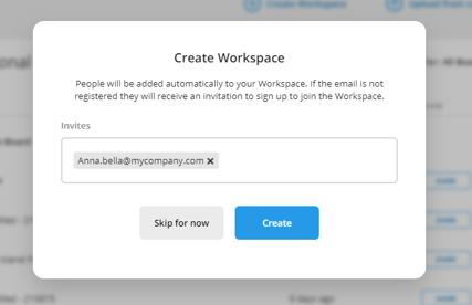 Workspace create