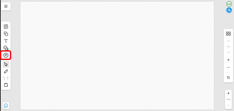 Import files via icon