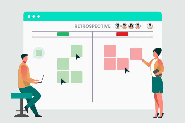 Team Retrospective with an Online Whiteboard