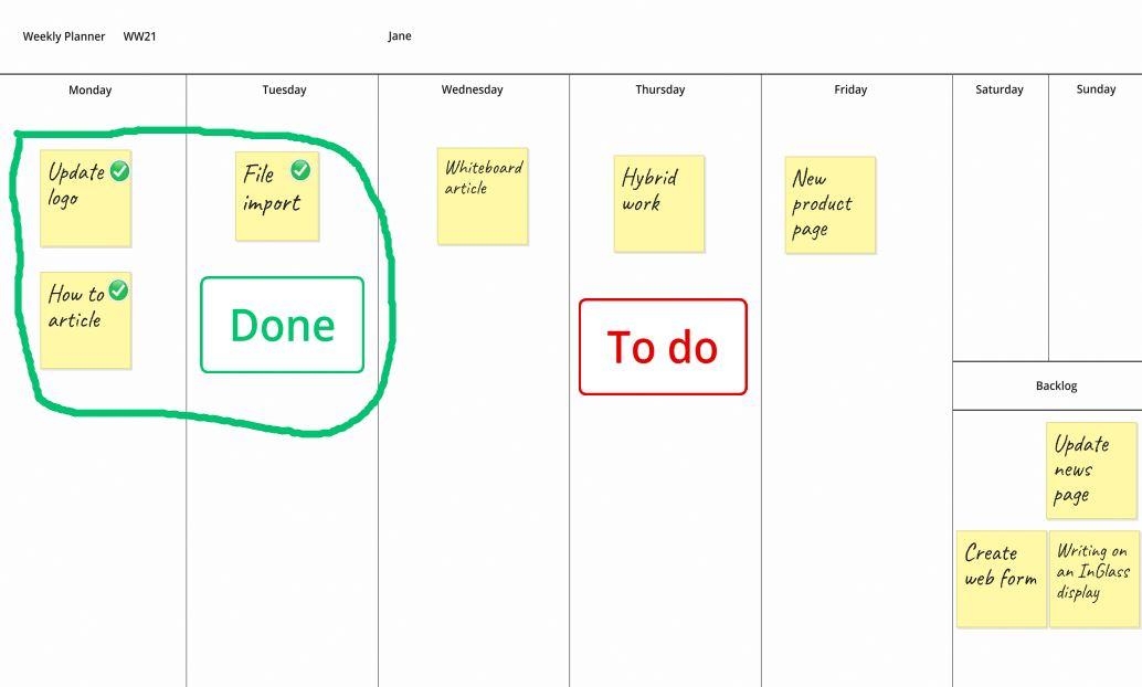 Plan with online whiteboard - hybrid whiteboard