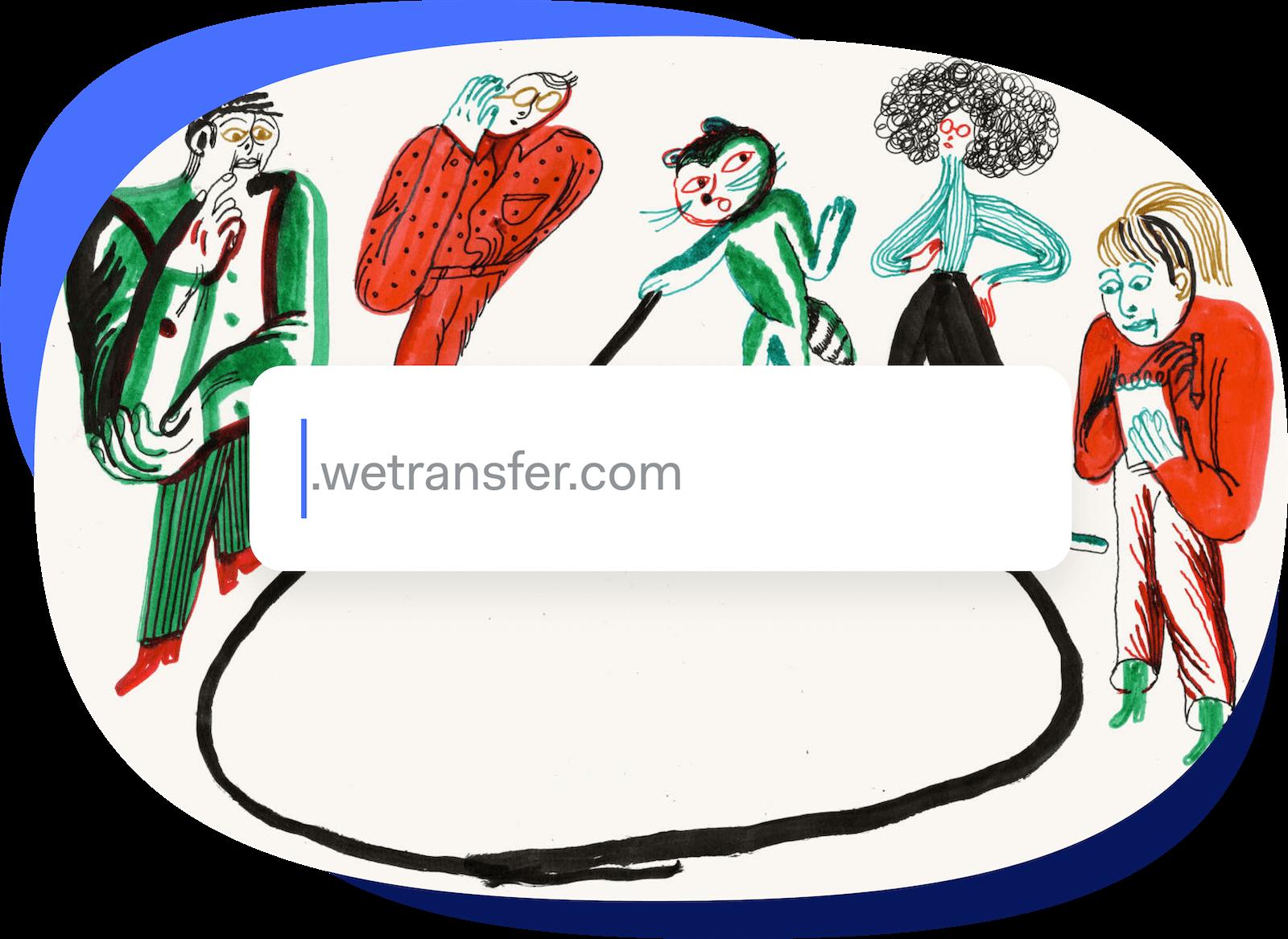 WeTransfer Pro file sharing storage custom domain