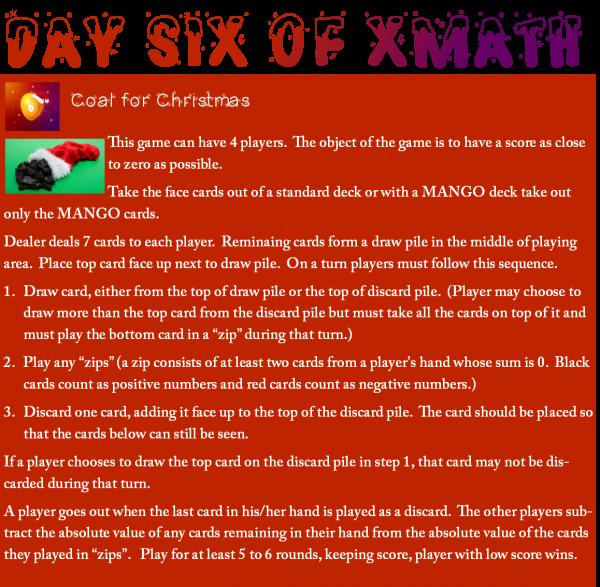 Day 6 of XMATH