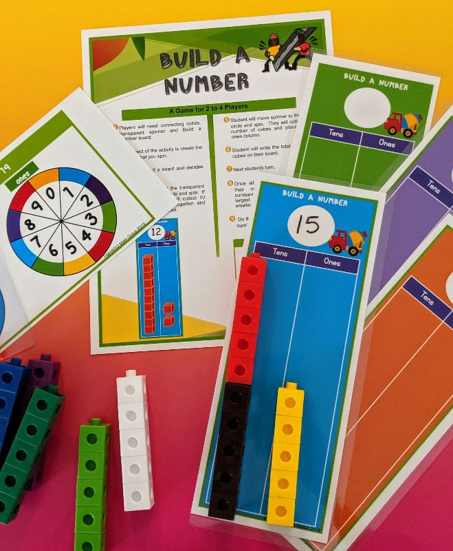 Build a Number - Kindergarten Kit - Tens place