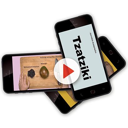 Drei Smartphones mit Videos von Wundertütenfabrik