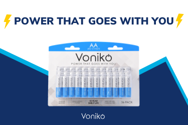 Voniko Batteries - Power That Goes With You