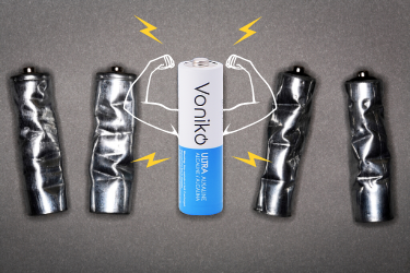 Voniko ULTRA Alkaline AA and AAA Bulk Batteries are stronger and last longer than ordinary carbon batteries