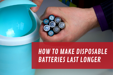 How to make disposable batteries last longer - photo of person holding disposable batteries