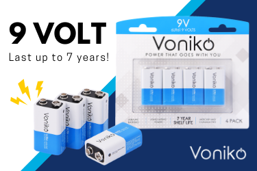 Voniko ULTRA 9-volt Alkaline Batteries - Power That Goes With You