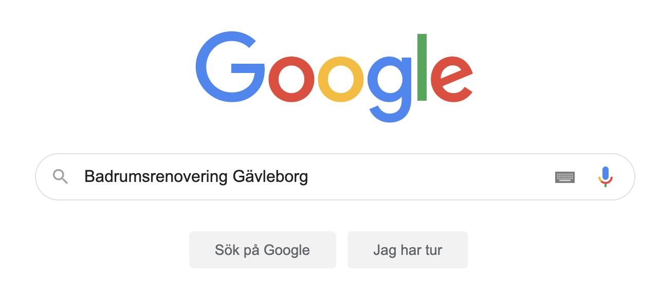Google Sökfält Badrumsrenovering Gävleborg
