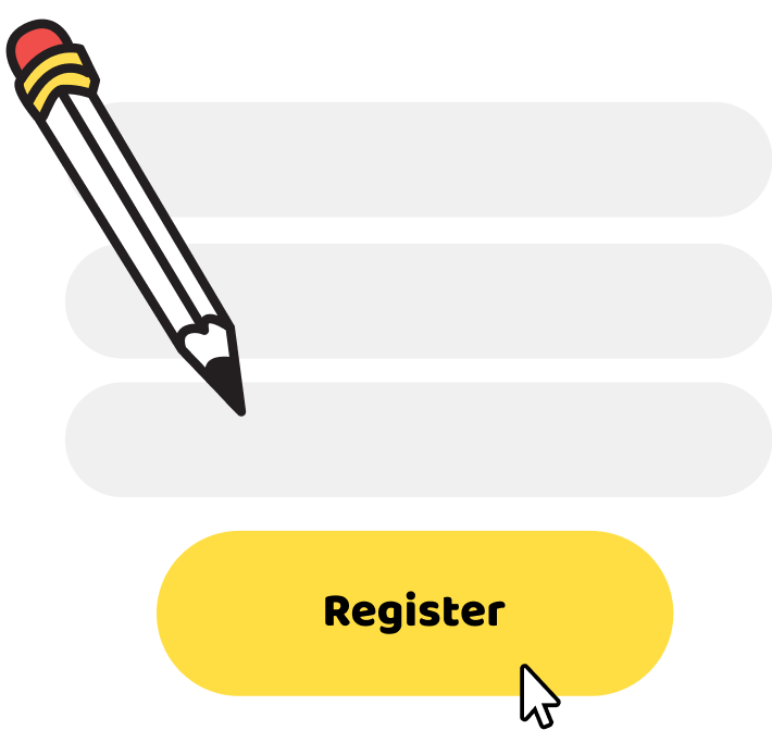 Register graphic with pencil to enter details