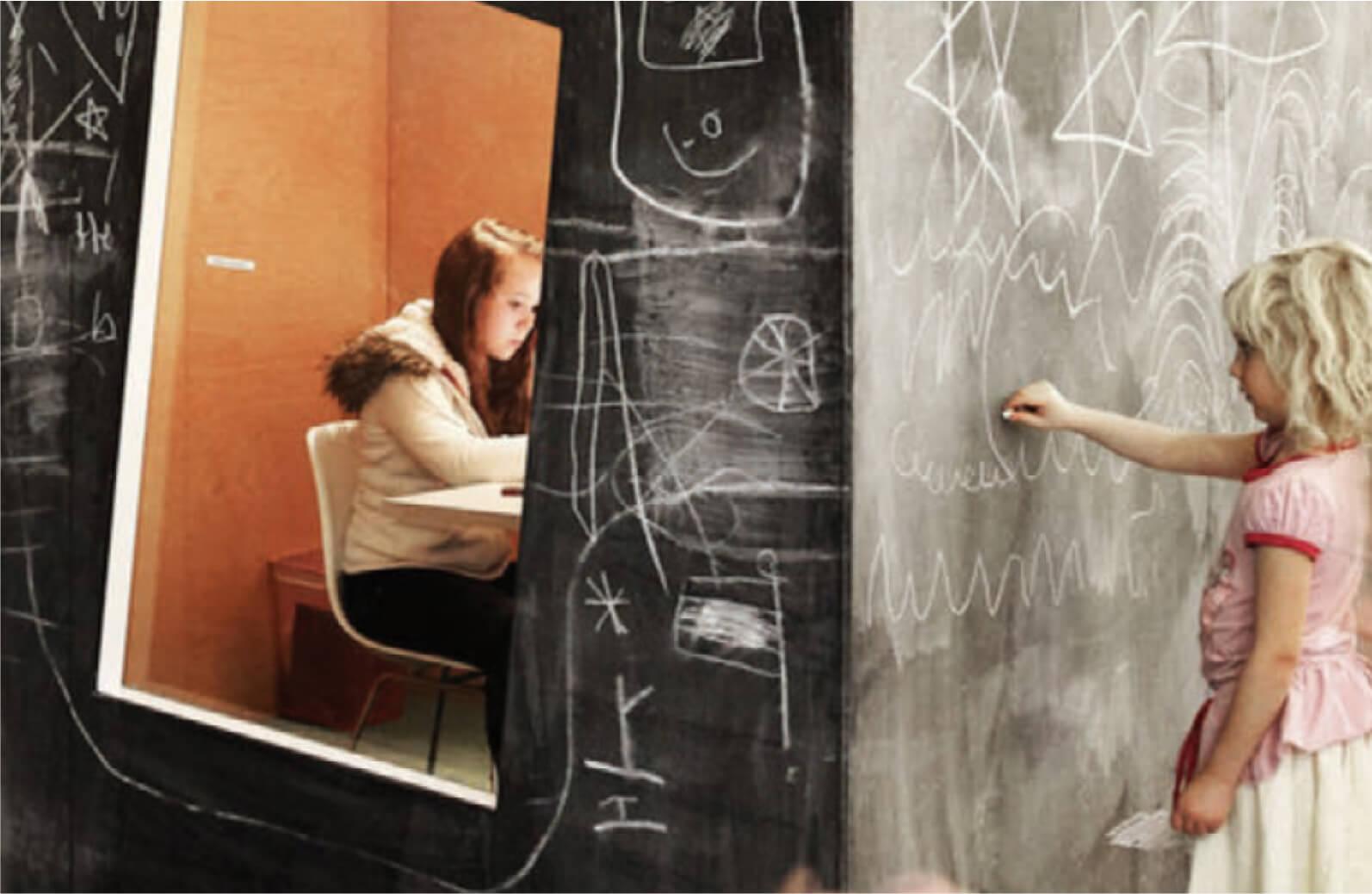 Learning Hive - Hackney chalk wall