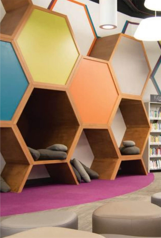 Learning Hive - Hackney hexagon wall seats