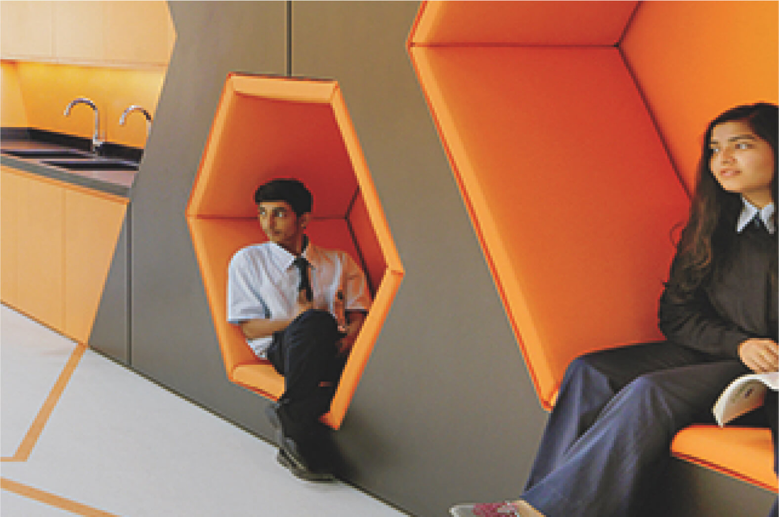 Learning Hive - Hackney wall seating