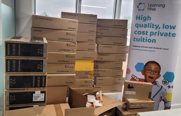 Samsung LED monitors waiting for distribution