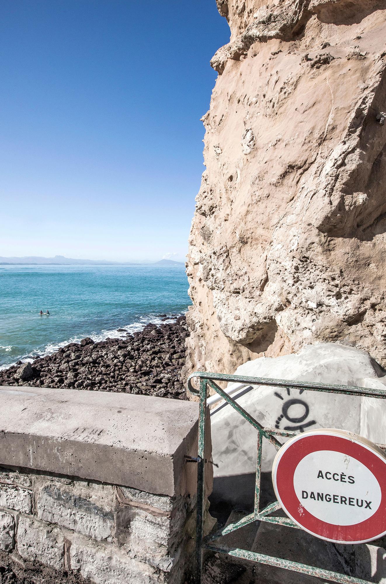 vue ocean biarritz eau pierre elements
