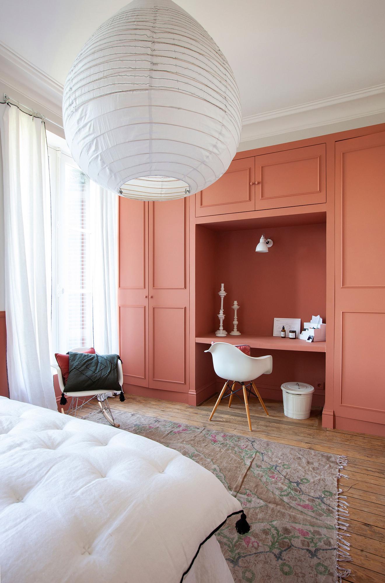 intérieur chambre décoration harmonie  mobilier sur mesure