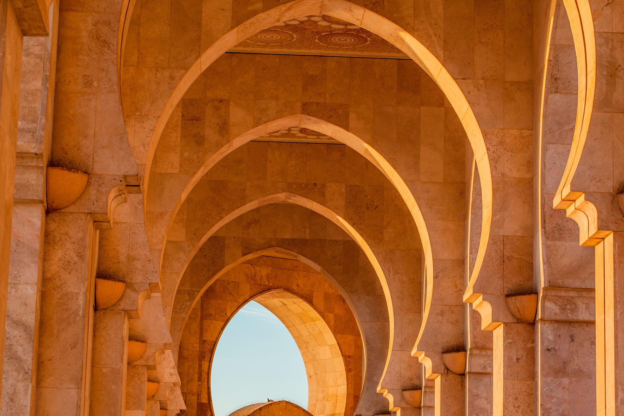 détail arches mosquée