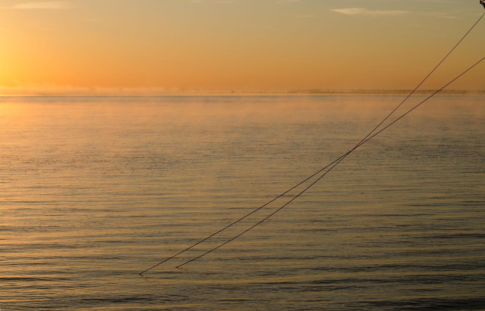 détail la Garonne soleil levant