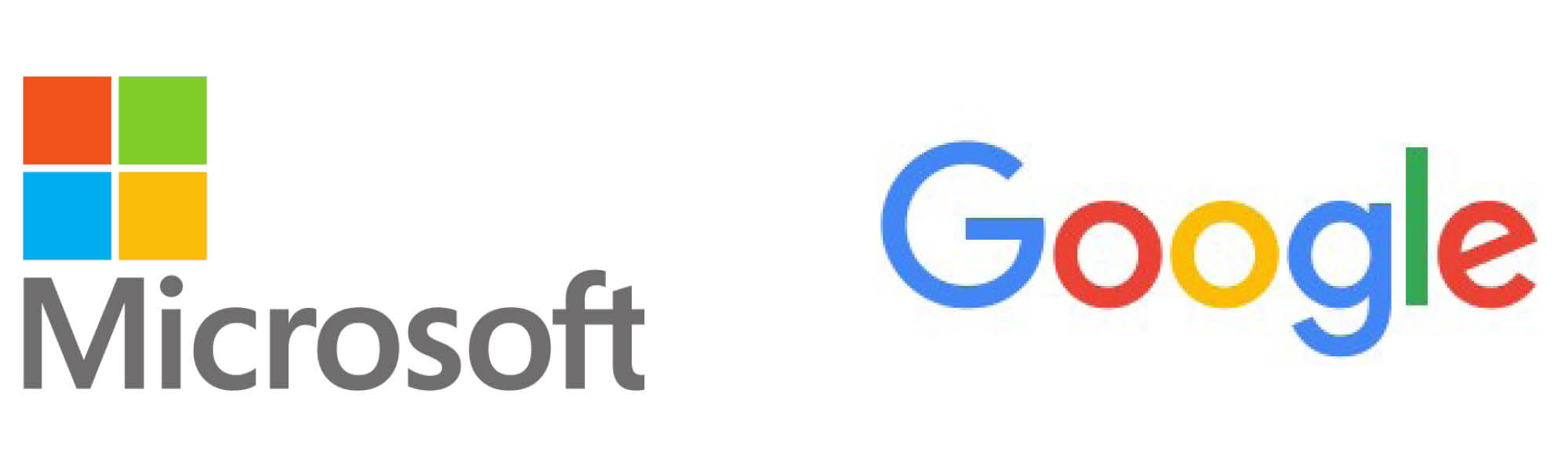multi colour logo examples of microsoft and google to show examples of where logos have multi colours